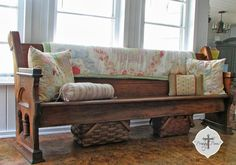 My unexpected blessing - an antique church pew for free!