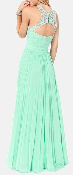 Mint Lace Maxi Dress ❤︎ #bridesmaid #wedding #dress