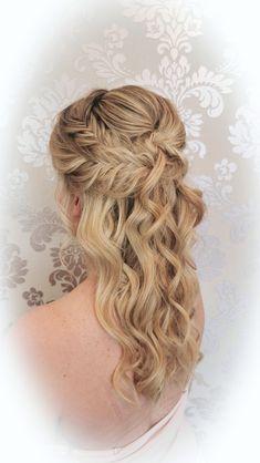Hairstyling by Christina Gubier Face And Body, Bridal Hair, Dreadlocks, Hairstyle, Long Hair Styles, David, Wedding, Beauty, Hair Wedding