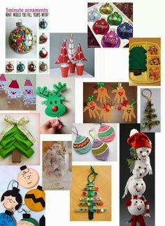 Christmas Decorations for children to make! So cute!