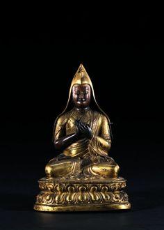 PORTRAIT DU LAMA TSONG KHAPA  Tibet, XVIIIe siècle