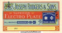 Joseph Rodgers and Sons Ltd , Cutlery Manufacturer, 6 Norfolk Street - extract from catalogue