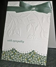 With Sympathy by hskelly - Cards and Paper Crafts at Splitcoaststampers - leaf embossing folder Making Greeting Cards, Greeting Cards Handmade, Scrapbooking, Scrapbook Cards, Penny Black, Embossed Cards, Get Well Cards, Paper Cards, Diy Cards