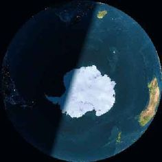 space image of Antarctica - ❅ www.pinterest.com/WhoLoves/Outer-Space ❅ #OuterSpace #Earth