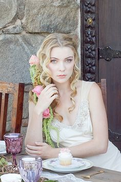 Fairy Tale Tangled Wedding Shoot floral hair ideas