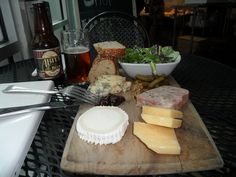 A fine fine cheese plate at St. James Cheese Shop in New Orleans, of course served with an Abita Amber Ale