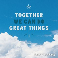 Together we can do great things Alone feels like 'I can't.' Together feels like 'We will.' Stress Less, Reduce Stress, Reset Button, Together We Can, After School, Stress Relief, Chill, Presentation, Feels