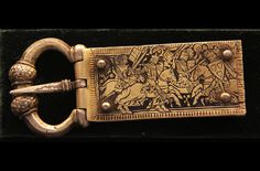 ...Medieval buckle, Hungarian, 12th -13th century, at the Hungarian National Museum...