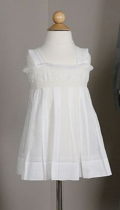 Lovely Antique White Cotton Baby Dress | www.SarahElizabethGallery.com