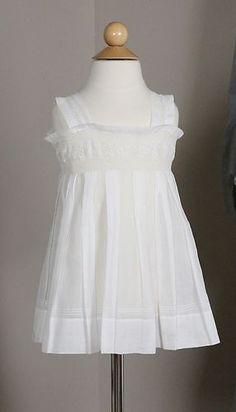 Lovely Antique White Cotton Baby Dress | www.SarahElizabethGallery.com