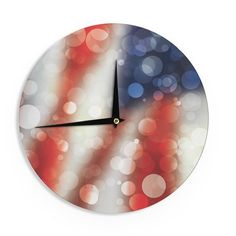 "East Urban Home 'Patriot' 12"" Wall Clock"