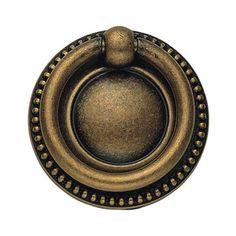 Antique Brass Dark Ring Pull Classic Hardware Pulls Drawer Cabinet Hardware & Knobs Kitc