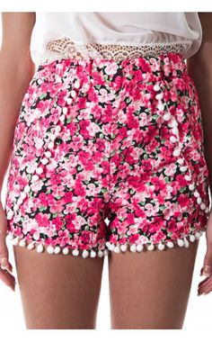 SHORTS: http://www.glamzelle.com/collections/shorts/products/floral-garden-pom-pom-shorts-2-colors-available-1
