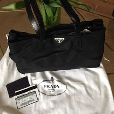 """Prada Semitracolla Vela Sport Handbag % Authentic Prada nylon handbag. Good condition. Comes in original packaging with dust bag and authenticity card. The bag has one large middle zipped pocket and one zipped pocket on the inside. The small zipped pocket has a small 3"""" hole inside, can be easily fixed. 14"""" x 8 1/2"""" x 3 1/2"""" Great to use as a diaper bag!! Prada Bags"""