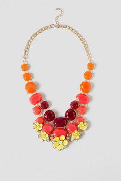 Shelley Multi-Color Floral Statement Necklace