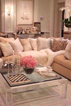 This feminine Living Room looks like a room Lisa Vanderpump would have.