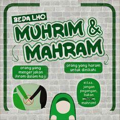 """Perbedaan """"Muhrim"""" & """"Mahrom"""" Hijrah Islam, Islam Religion, Muslim Quotes, Religious Quotes, Reminder Quotes, Self Reminder, Islamic Inspirational Quotes, Islamic Quotes, Prayer Verses"""