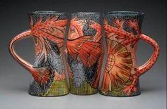 megan bogonovich art | Megan Bogonovich - Three Vase Set - majolica ware [2011] - $600.00 ...