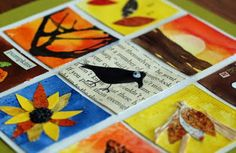 how to make fall inchies...adorable and lots of craft/art techniques used for great learning projects!