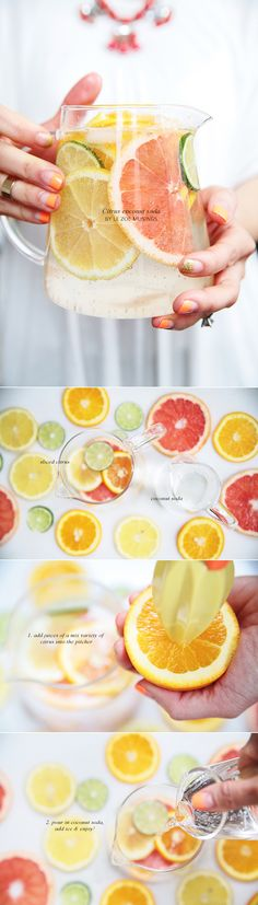 Citrus Coconut Soda. Great for entertaining! By Le Zoe Musings