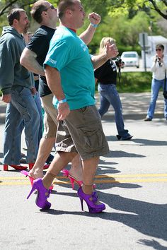 The International Men's March to Stop Rape, Sexual Assault & Gender Violence - http://www.walkamileinhershoes.org  /  http://www.flickr.com/photos/walkamileinhershoesinternational/