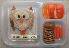 Another way to make owl sandwich