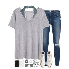 ugh i need advice, please pm me... by sarahc01 on Polyvore featuring H&M, AG Adriano Goldschmied, Free People, Converse, Forever 21, Ray-Ban, Topshop and Natasha Couture