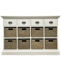 Farmhouse Collection 4 Drawer 8 Basket