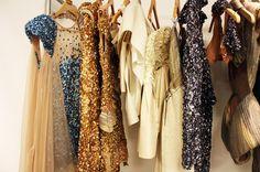 My kind of closet. It looks more like a backstage wardrobe rack.