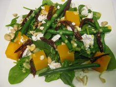My Thermomix Kitchen - Blog for healthy low fat Weight Watchers friendly recipes for the Thermomix : Spinach, Bean, Sun-dried Tomato and Feta Salad