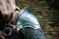 PAIR of Steel Armor Pauldrons THOR