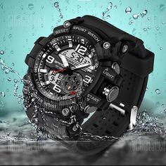 🏷️🐼 Sanda 740 5321 Luminous Double Movement Men Watch - 9.94€      #BonsPlans, #Deals, #Discount, #Gearbest, #Promotions, #Réduc, #Sanda