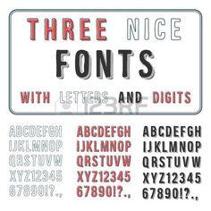Hand Drawn Font Set  Handwriting Alphabet  ABC with Digits  Vector photo