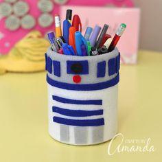 R2-D2 Pencil Holder | FaveCrafts.com