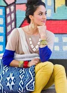 Noonday Collection: Chevron dangle earrings