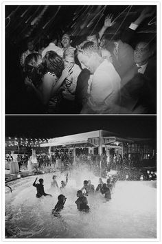 This wedding reception turned impromptu pool party, at Ace Hotel Palm Springs, reminds me of the Peter Sellers 1968 film The Party | Photography by James Moes