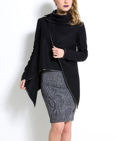 Another great find on #zulily! Black Lila Wool Jacket #zulilyfinds