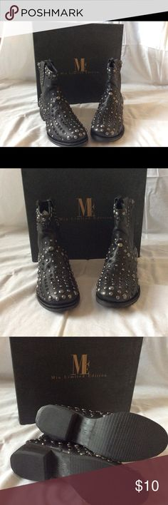 MIA Buullet Boots Brand new, never worn. MIA Limited edition Buullet embellished bootie Mia Shoes Ankle Boots & Booties