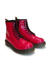 Dr. Martens - 8 eye - KIDS - red patent with zip