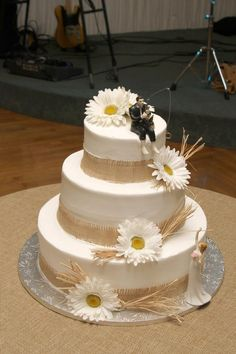 country rustic wedding cake...fishing