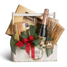 Christmas Gift Baskets, Christmas Diy, Merry Christmas, Xmas, Holiday, Wine Cellar Design, Auction Baskets, Luxury Flowers, Gift Wrapping