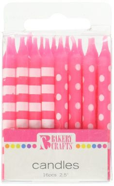 Party Supply Amscan Neon Birthday Candles 120 Ct.