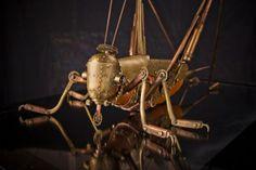 Steampunk Tendencies | Steam Mechanical Grasshopper by Sikorskiy Andrew  #Sculpture #Mech #Steampunk