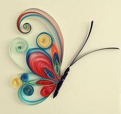 23 Easy Paper Quilling Ideas For Kids Arte Quilling, Quilling Butterfly, Quilling Letters, Paper Quilling Flowers, Paper Quilling Cards, Quilling Work, Paper Quilling Patterns, Origami And Quilling, Quilled Paper Art