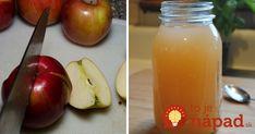 Jablčný ocot nie je ani zďaleka len tak obyčajnou potravinou. Je vynikajúcim pomocníkom v domácnosti, v kuchyni ale aj pre naše zdravie. Neváhate a vyrobte si ho aj doma. Je to jednoduché a potrebujete len 20 minút času! Korn, Pickles, Cantaloupe, Cucumber, Healthy Lifestyle, Peach, Fruit, Ale, Syrup