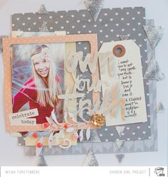 #papercraft #scrapbook #layout.  Inspired: Family Mini Album 2014 By Wilna - Two Peas in a Bucket