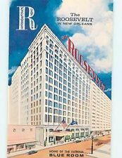 vintage new orleans hotel photos   ... Pre-1980 OLD CARS & ROOSEVELT HOTEL New Orleans Louisiana LA q5957