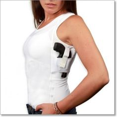 Concealment Undershirt. Another great way to concealed carry with a women's varying clothing styles. http://www.thewellarmedwoman.com/apps/store/default.asp?view=profile&itemid=39250
