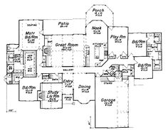 Find your dream english-country style house plan such as Plan which is a 4012 sq ft, 4 bed, 4 bath home with 3 garage stalls from Monster House Plans. Ranch House Plans, Best House Plans, Country House Plans, Dream House Plans, House Floor Plans, Home Design Floor Plans, Dream Home Design, Plan Design, House Design