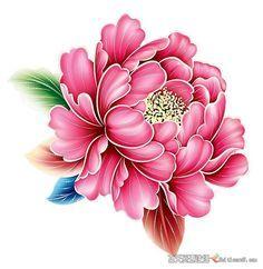 Tattoo Japanese Style, Japanese Flower Tattoo, Japanese Tattoo Designs, Chinese Flowers, Japanese Flowers, Tattoo Oriental, Chrysanthemum Tattoo, Fabric Paint Designs, Floral Doodle